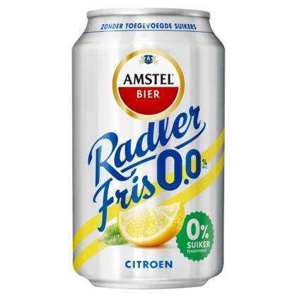Amstel Radler Fris 0.0 Bier Blik 33 cl (rol, 33 × 33cl)