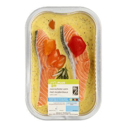 Ovenschotel zalmfilet mosterd-paprika (300g)