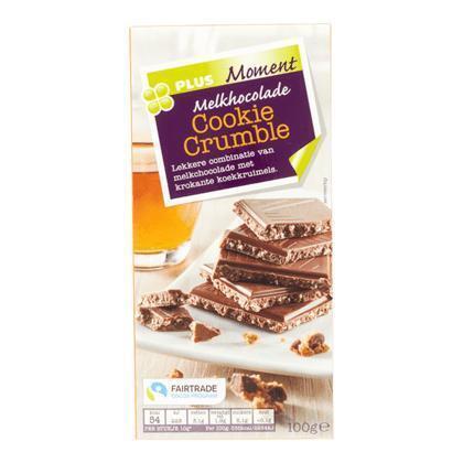 Tablet melk cookie crumble fairtrade (100g)