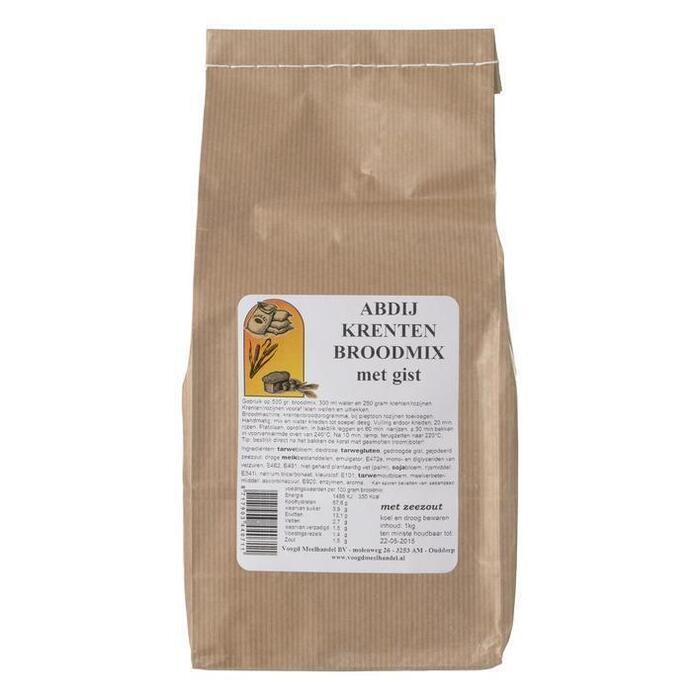 Abdij Krentenbroodmix met gist (1kg)