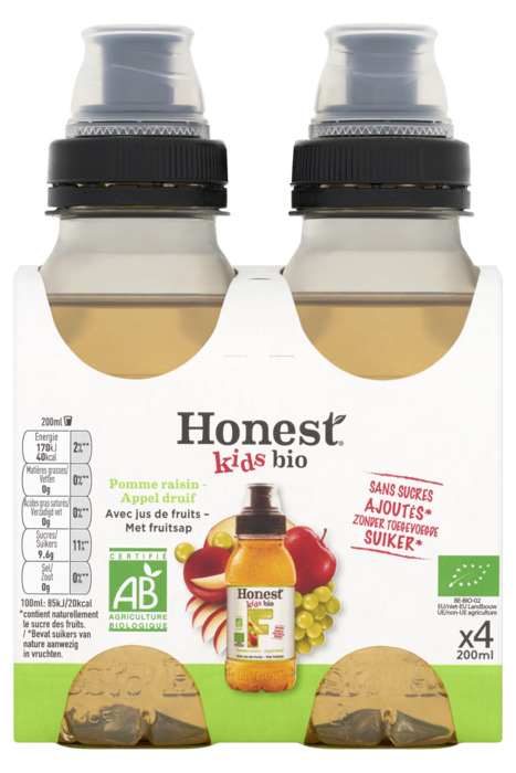 Honest Kids apple bio 4-pack (4 × 200ml)