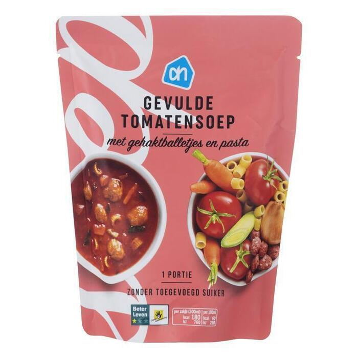 Gevulde tomatensoep met ballen (plastic zak, 30cl)