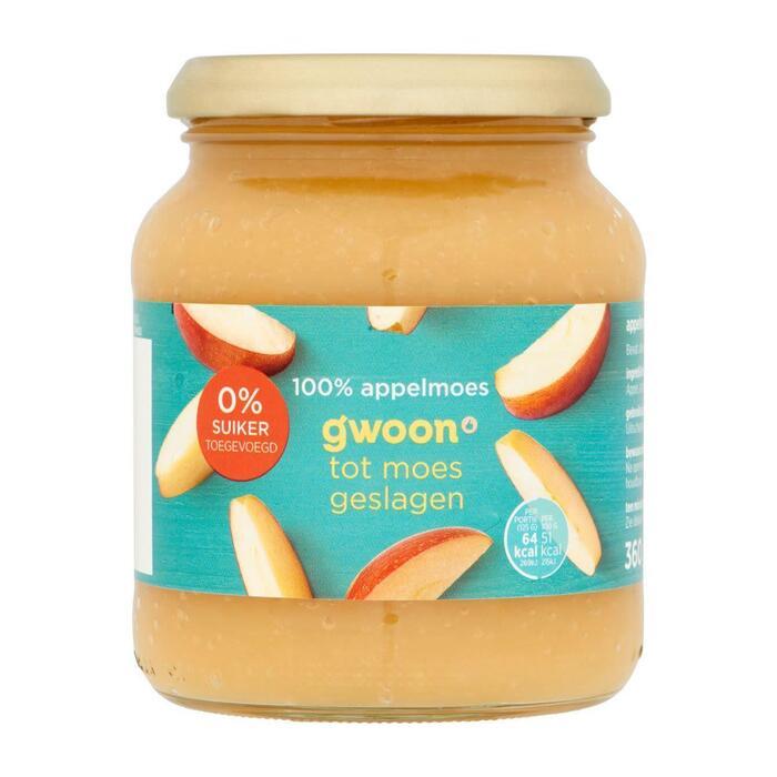 g'woon Appelmoes 0% toegevoegd suiker (360g)