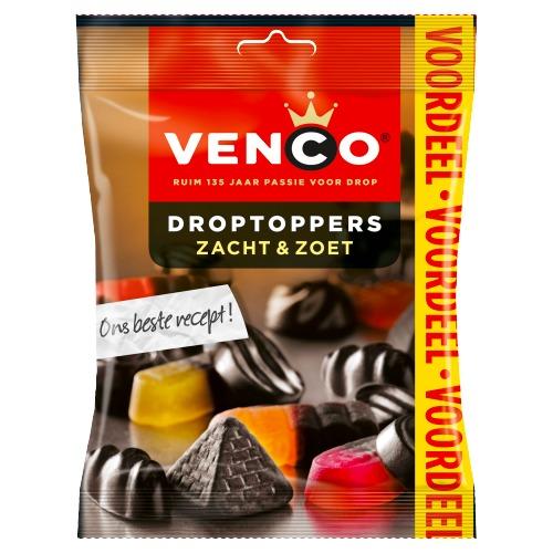 Venco Droptoppers zacht & zoet VDV (195g)