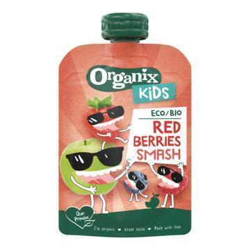 Organix Kids Bio Fruitpuree Red Berries Smash - Knijpzakje 100 g (100g)