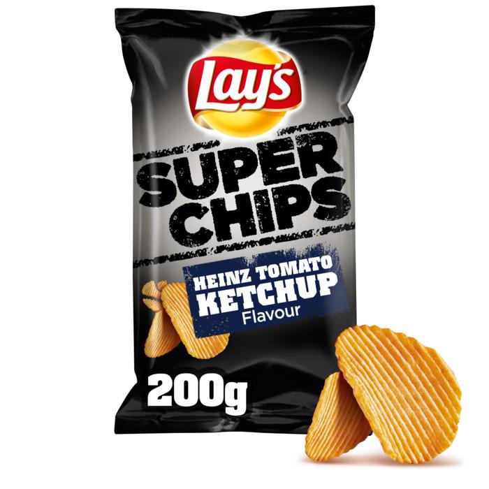 Lay's Superchips Aardappelchips Heinz Tomato Ketchup Flavour 215g (Stuk, 200g)