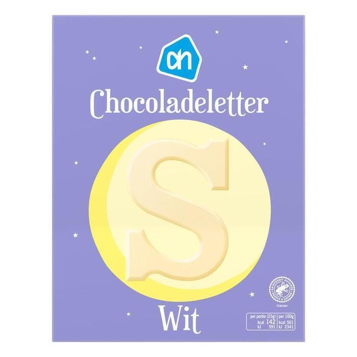 AH Chocoladeletter wit (135g)