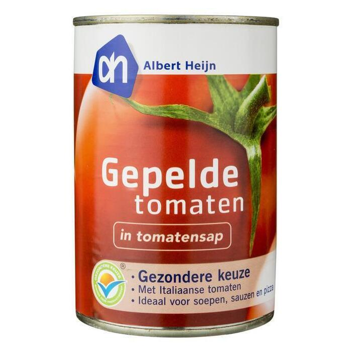 AH Biologisch, Gepelde Tomaten (blik, 400g)