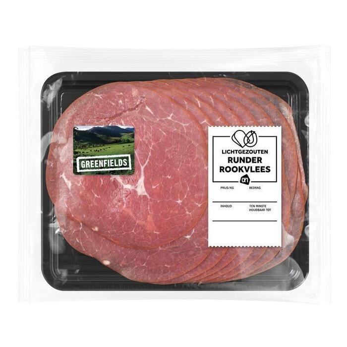 AH Greenfields runderrookvlees l. gezouten (100g)