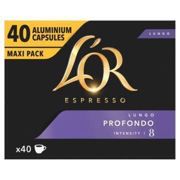 L'OR Espresso Lungo Profondo Aluminium Capsules Maxi Pack 40 Stuks 208 g (208g)