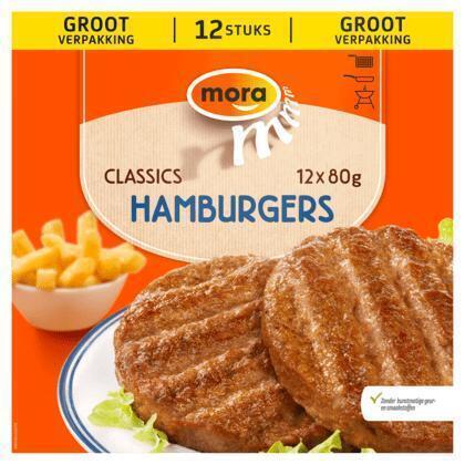 Hamburgers Xtra Groot (12 stuks) (12 × 80g)