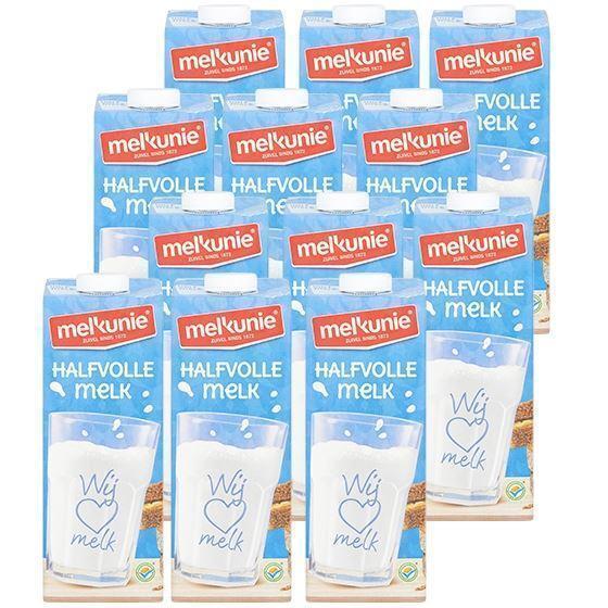 Melkunie halfvolle houdbare melk 12 x 1 liter (10 × 1L)