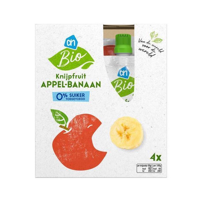 AH Biologisch Knijpfruit appel-banaan (4 × 90g)