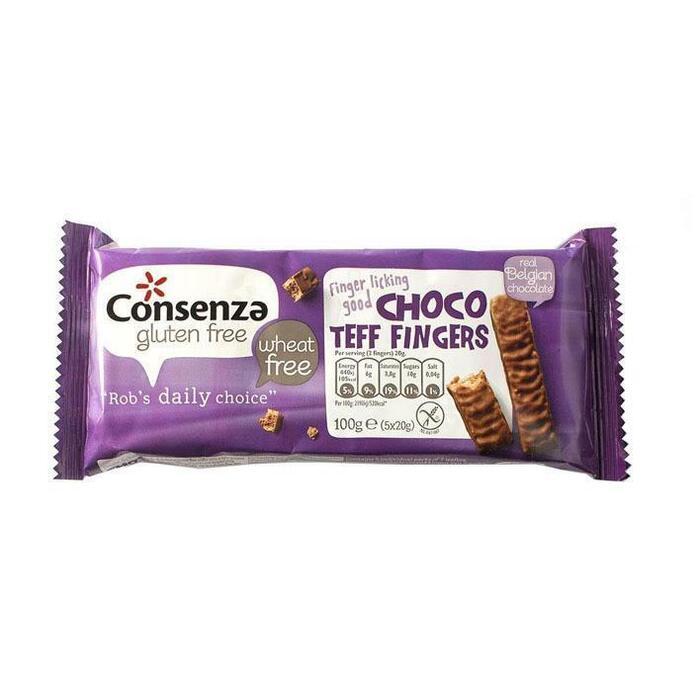 Choco teff fingers (Stuk, 5 × 100g)
