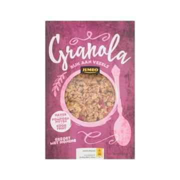 Jumbo Granola Haver, Pomopoen Pitten, Rood Fruit 350g (350g)