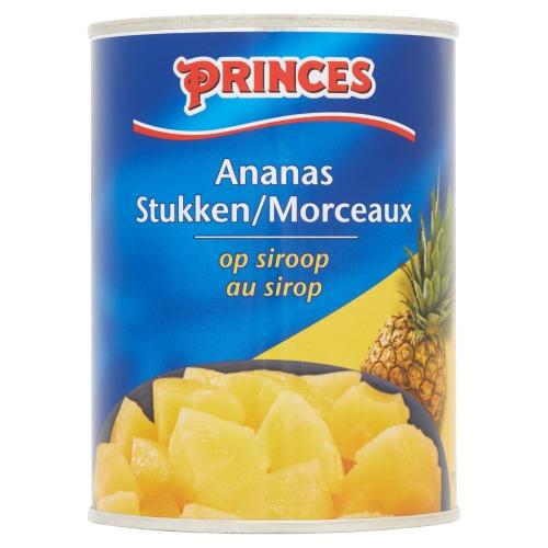 Princes, Ananas stukjes op siroop (blik 567g) (567g)