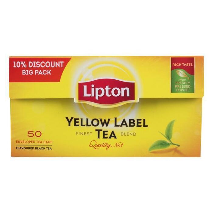 Yellow Label Tea (doos, 50st) (zakjes, 50 × 75g)