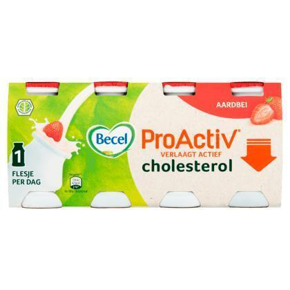Becel ProActiv aardbei mini yoghurt drinks (0.8L)