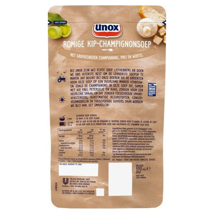Unox Soep in Zak Kip Champignonsoep 570 ml (0.57L)