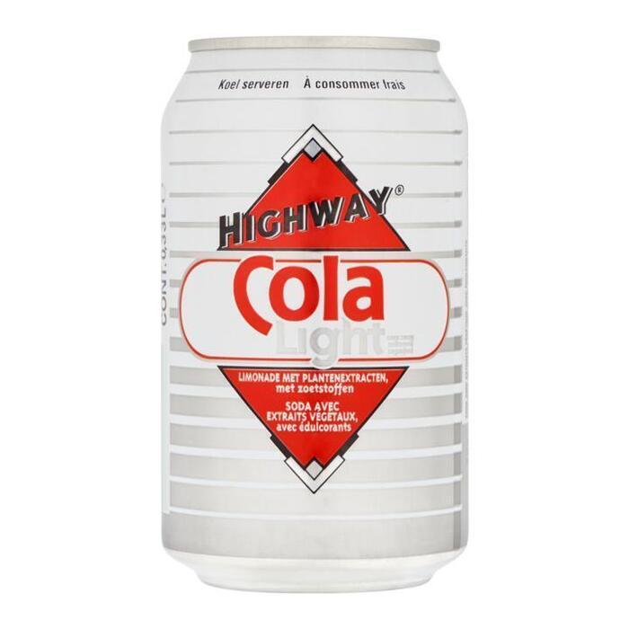 Highway Cola Light Suikervrij 0, 33L (33cl)