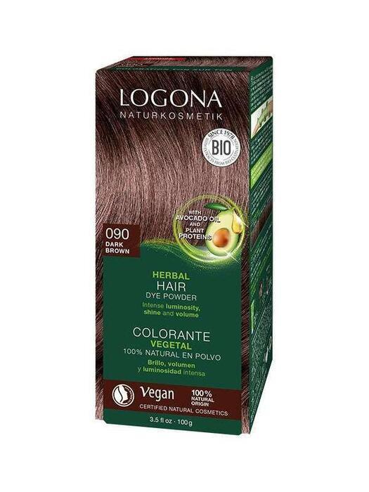Haarkleuring 090 Donkerbruin Logona 100g (100g)