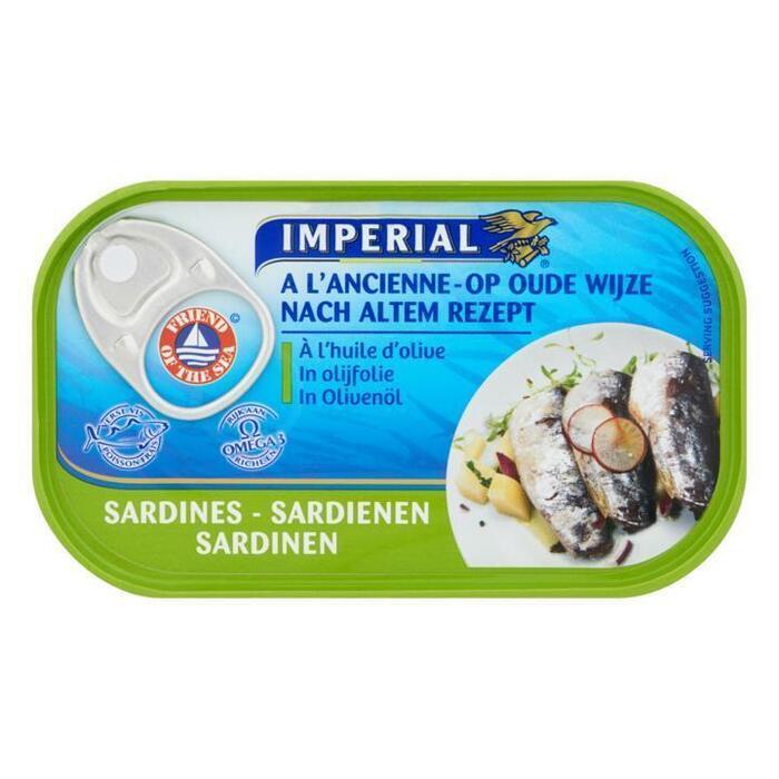 Sardines in olijfolie (blik, 125g)