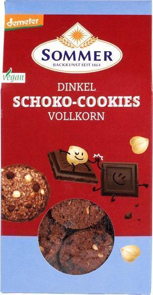 Spelt chocolade-hazelnoot koekjes (zak, 150g)
