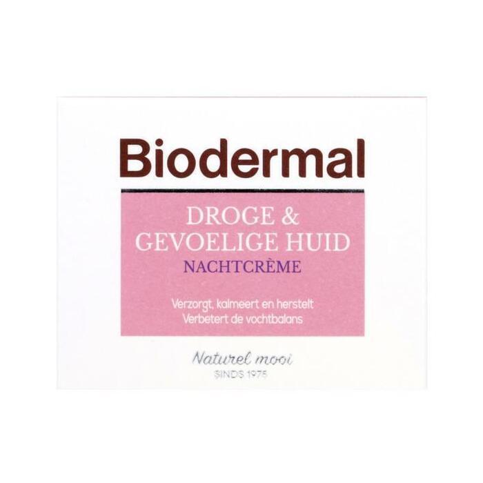 Biodermal Droge & gevoelige huid nachtcrème (50ml)