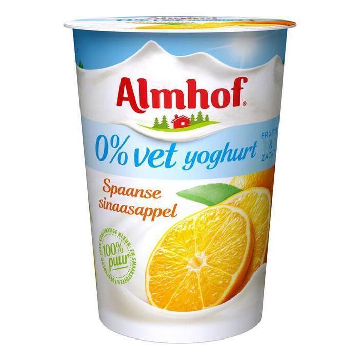 Milde 0% vet yoghurt Spaande sinaasappel (Stuk, 500g)