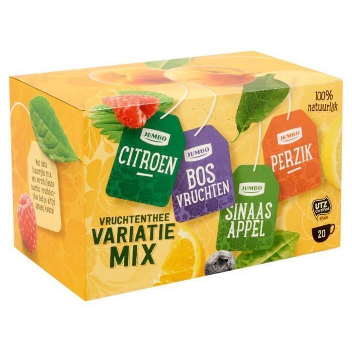 Jumbo Vruchtenthee Variatie Mix 20 Stuks 30 g (30g)