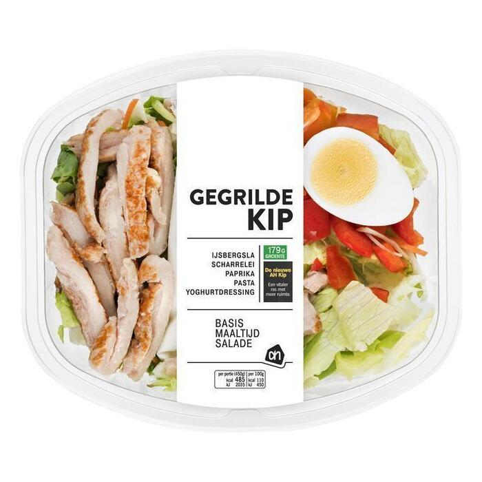 AH Basis maaltijdsalade gegrilde kip (bak, 450g)