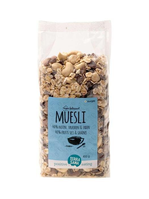 Muesli - 40% noten, vruchten & zaden TerraSana 450g (450g)