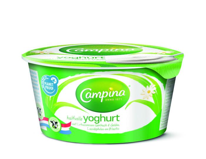 Campina yoghurt halfvol 150 gr beker (150g)