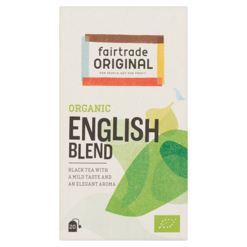 Fairtrade Original Organic English Blend 20 x 1, 75g (doos, 20 × 1.75g)