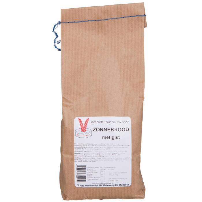 complete thuisbakmix voor zonnebrood met gist (1kg)