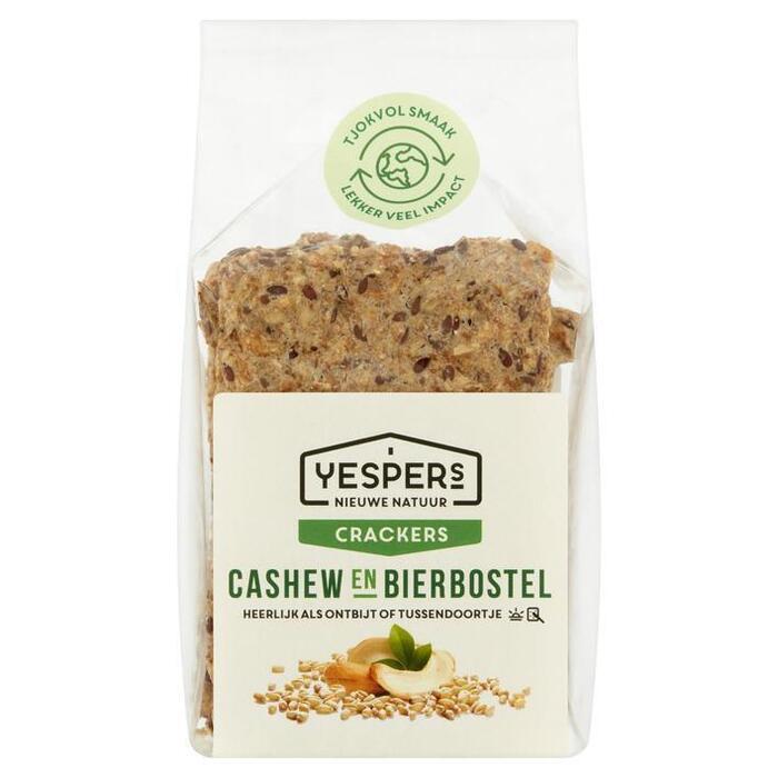 Yespers Crackers cashew & bierbostel (175g)