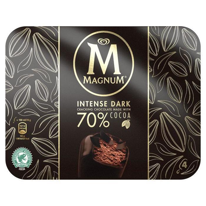 Magnum intense dark 4 stuks (4 × 40cl)