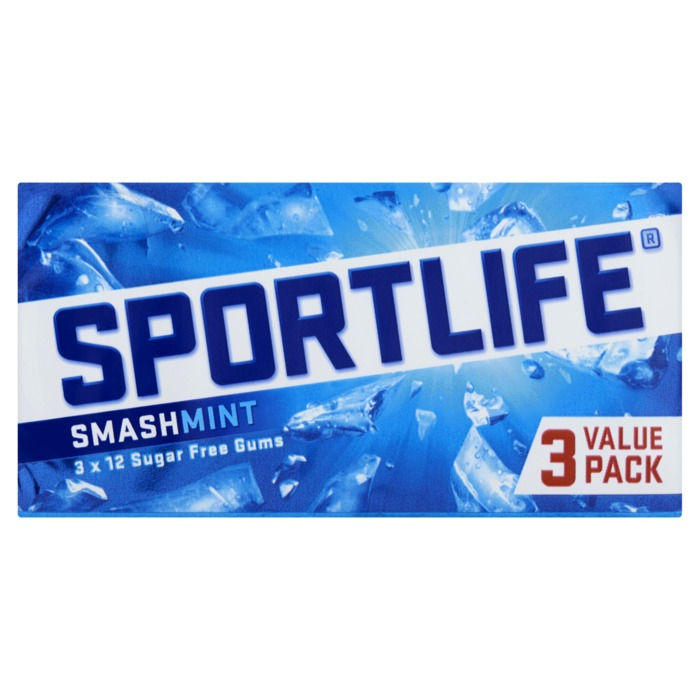 Sportlife Smashmint Suikervrij Kauwgom 3-Pack Blister 3 x 17 g (51g)