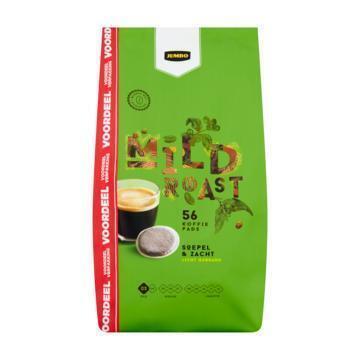 Jumbo Mild Roast Voordeelverpakking 56 Koffiepads 389 g (389g)