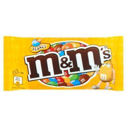 M&M's Peanut Chocoladedragees  45g zakje (45g)