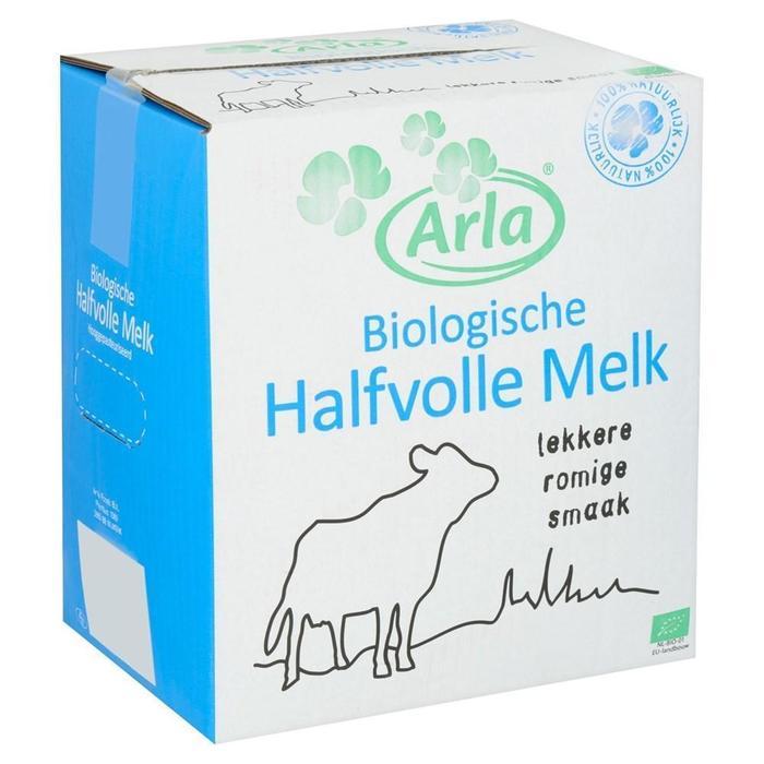 Arla biologische halfvolle melk 10L (10L)