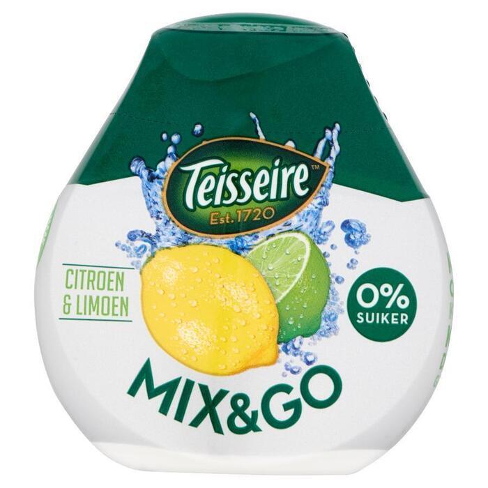 Teisseire Mix & Go Citroen & Limoen 0% Suiker 66ml (66ml)