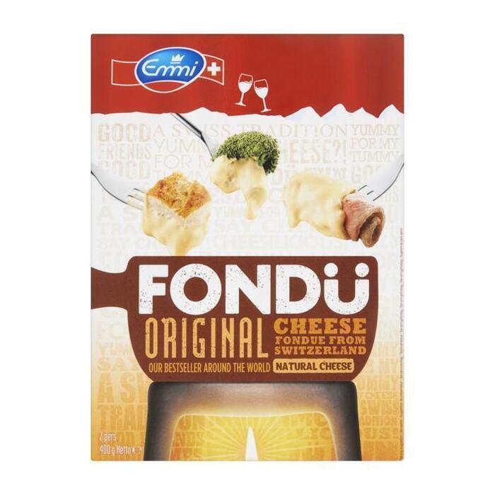 Fondü original cheese from Switzerland 40+ (Stuk, 400g)
