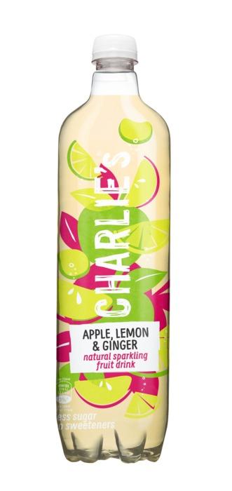 Charlie's Natural Sparkling Fruit Drink Apple, Lemon & Ginger 1 L (1L)