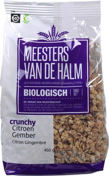 Crunchy Citroen Gember (zak, 450g)