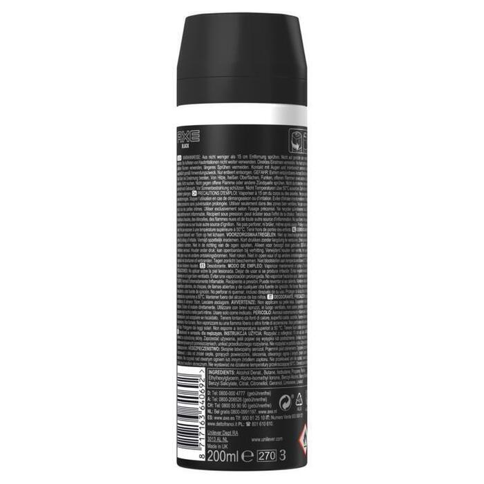 AXE Bodyspray Deodorant Black 200 ml (200ml)