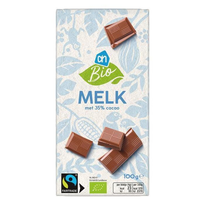 Biologische Melk Chocolade (wikkel, 100g)