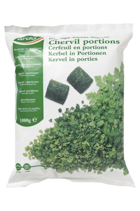 Kervel in porties (1kg)