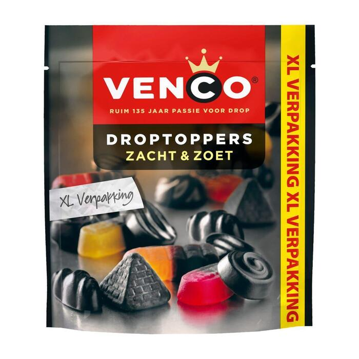 Venco Droptoppers Zacht & Zoet XL 390 g (390g)