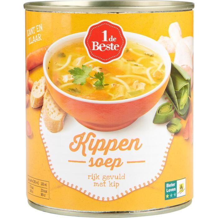 1 de Beste Kippensoep 800 ml Blik (0.8L)